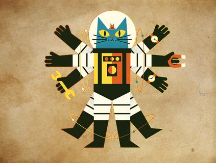 vitruvian astrocat
